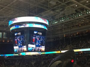 Patrick Marleau honored for joining the 500 goals club at the Tank