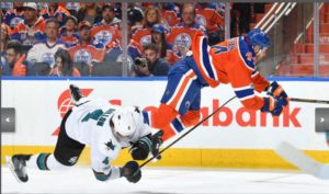 Zack Kassian destroys the Sharks in Game 2