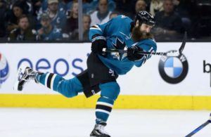 Joe Thornton scores his second goal of the game. Classic form!